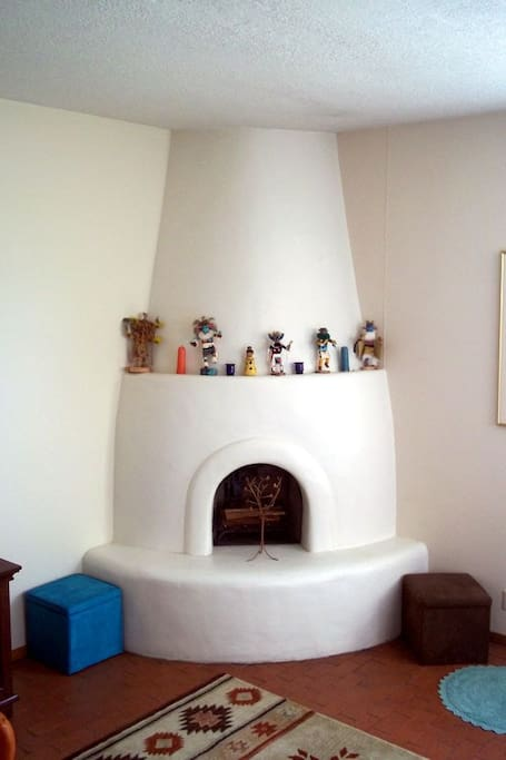 Kiva fireplace in living room