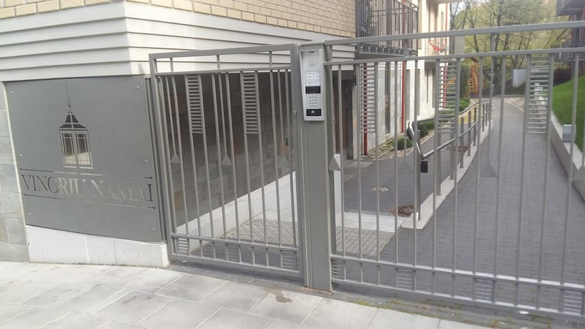 Secured entrance gate with code