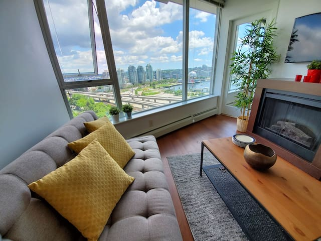 Cozy 1BR by Yaletown&Gastown,👌views, Free parking