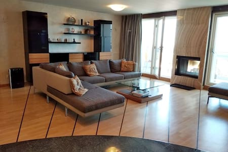 Luxury view apartment with fireplace and sauna