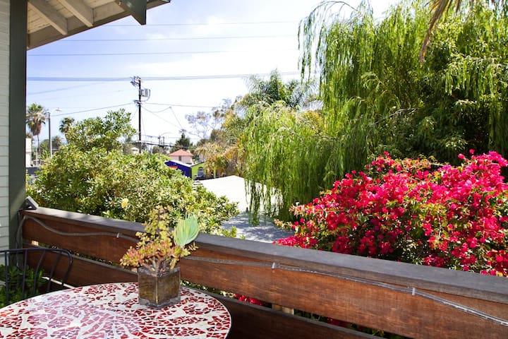 Cool studio + private patio + location!