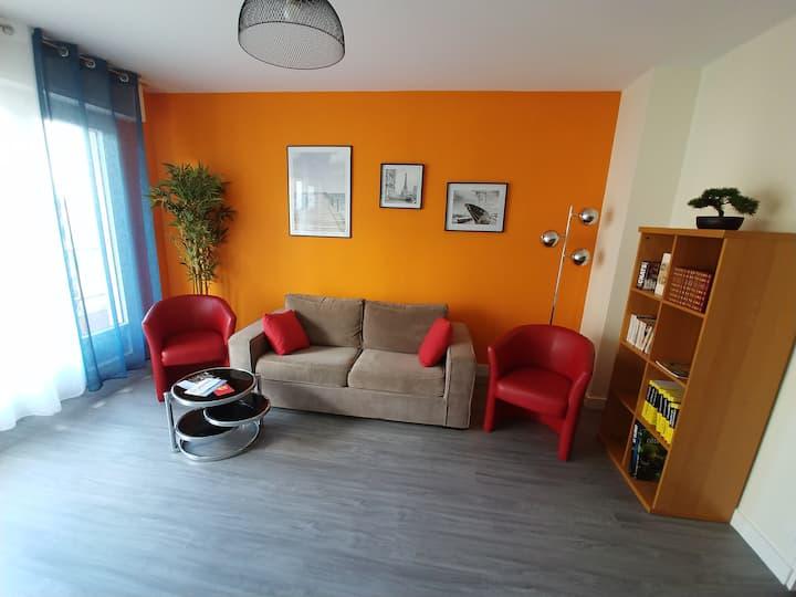 Appartement T3 Proche Gare (10 mn) et Centre-Ville