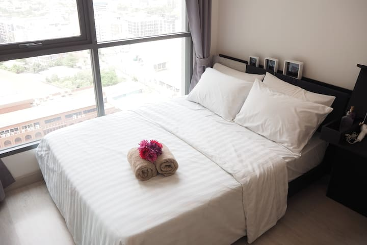 """Lucky Home""1BR_1min to Sukhumvit BTS On-Nut - Bangkok - Appartement"
