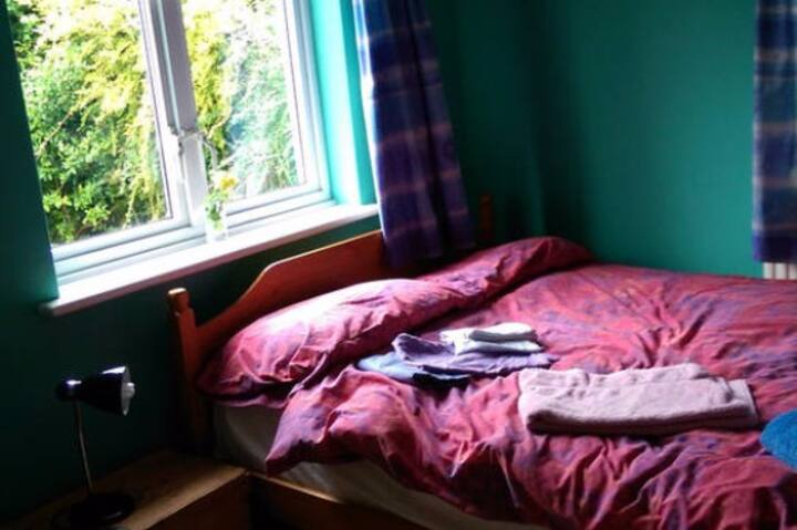 Double room in friendly family house near Exeter.
