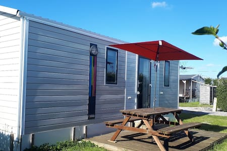 mobil home 4 pers, camping avec piscine, bergues