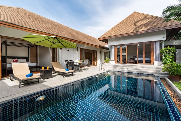 Private Tropical Pool Villa, Thai-Balinese 2br