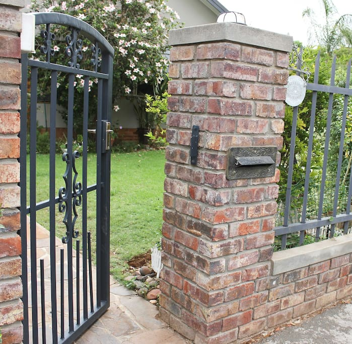 The front gate - secure and private