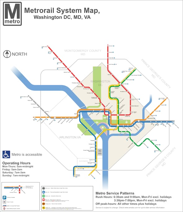 Washington Metro Map, to help you get oriented. Cheverly is on the Orange Line just inside the Maryland line. Look on the right side of the map.