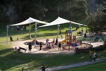 This beautiful playground is also 5 minutes walk from the apartment.