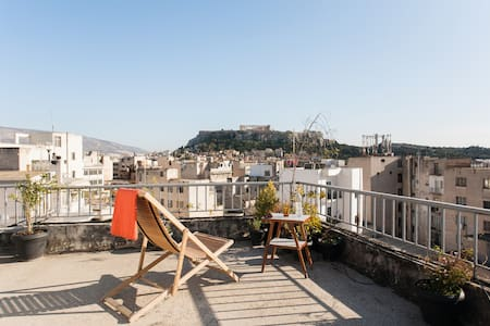 Superb Acropolis view cosy studio in the center