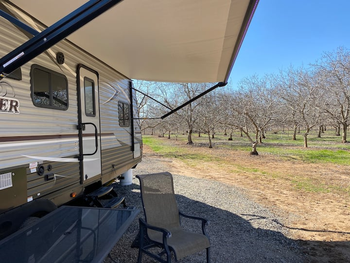 Contemporary New 2019 Pop-Out 33 foot trailer