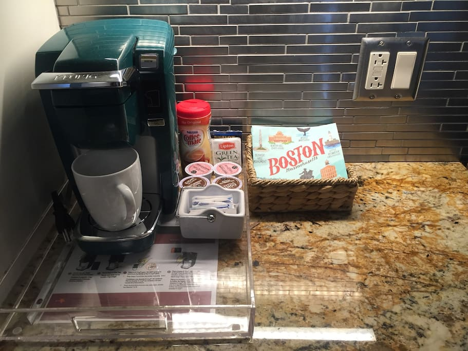 Keurig coffee/tea for our guests.