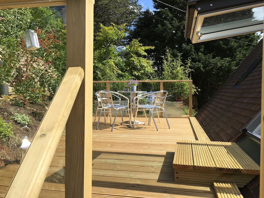 Private sunny roof terrace
