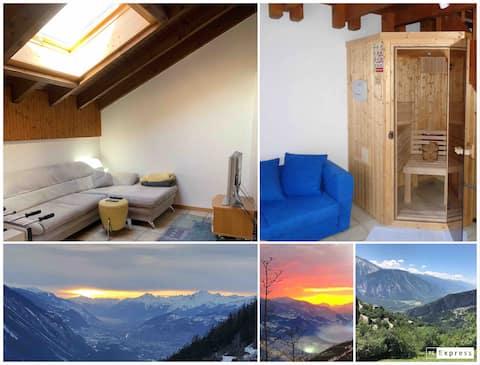 Grosse Attikawohnung mit 67 m2 und privater Sauna
