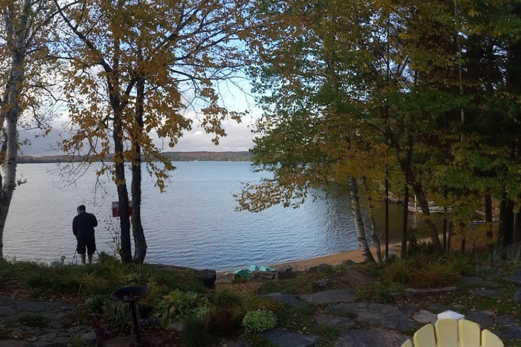 View of lake from back porch