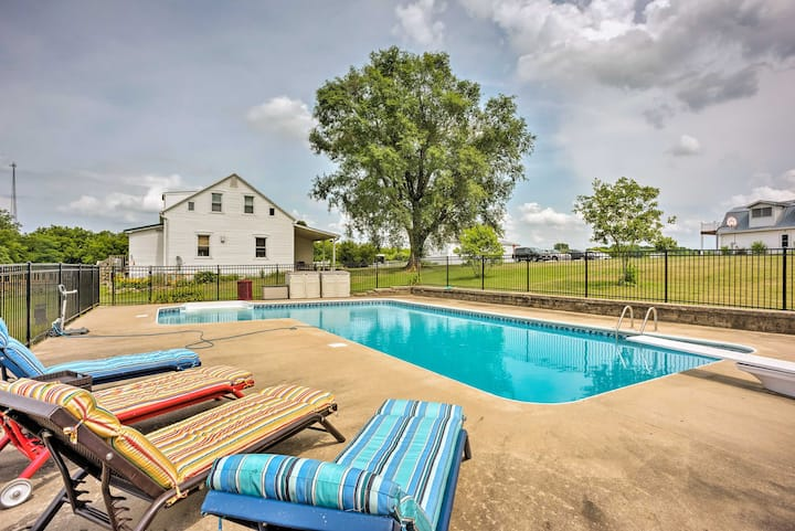 Charming Berger Apt on 42-Acre Farm w/Pool Access