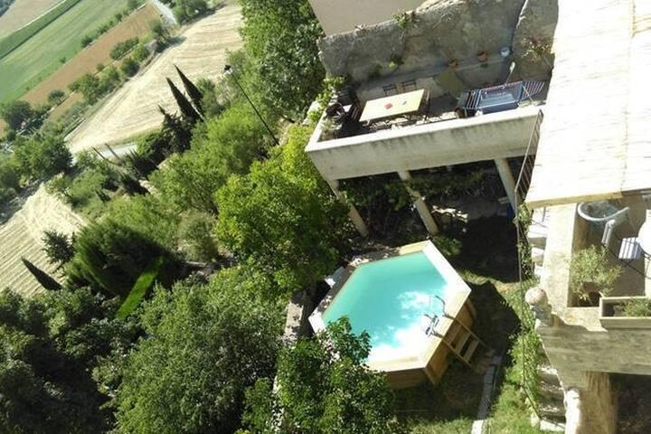 Belle chambre lumineuse vue splendide sur Luberon - Lurs - Casa