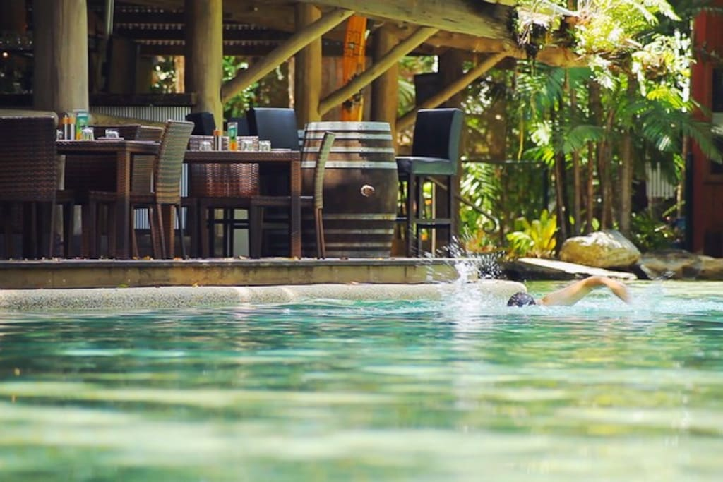 Dine or Swim by the water.