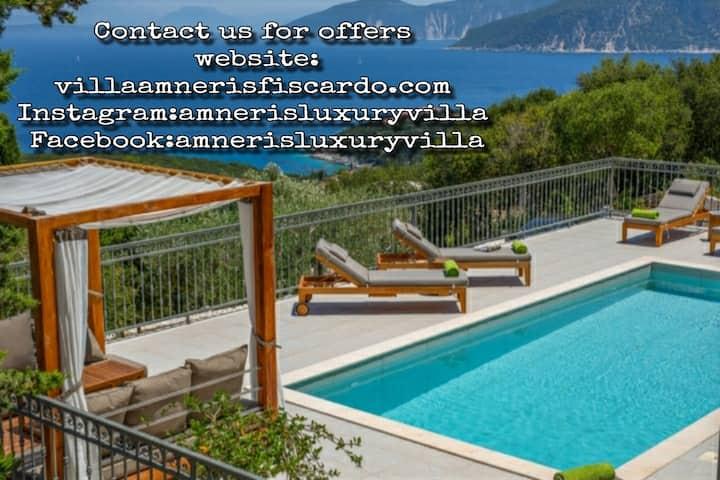 Top villa In Fiskardo with heated pool & hot tub