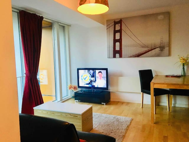 Entire 1 bed apt city centre, inc sofa bed (max 4)
