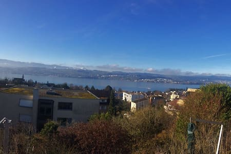 Guestroom with a Beautiful Zurich Lake View - Männedorf - Appartement