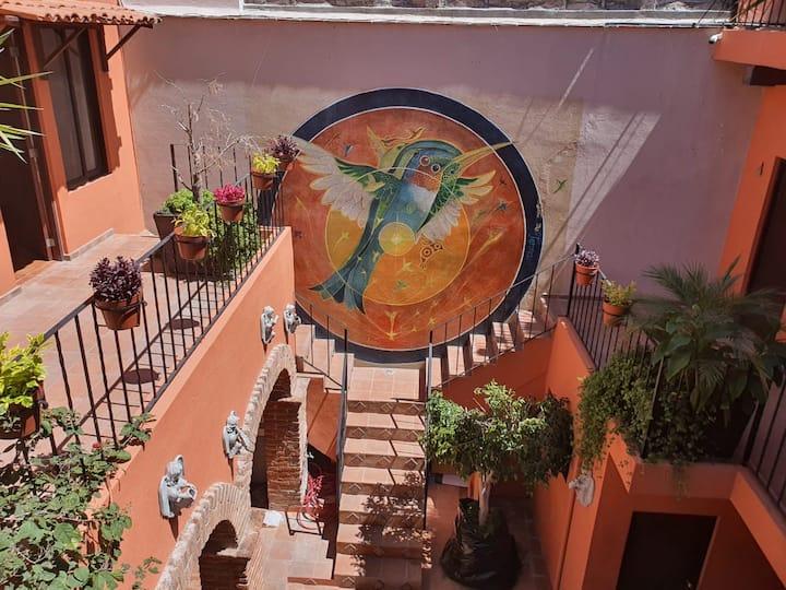 Casa los colibríes con terraza