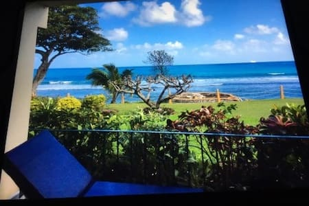 Clean, updated ocean front condo, gated & guarded