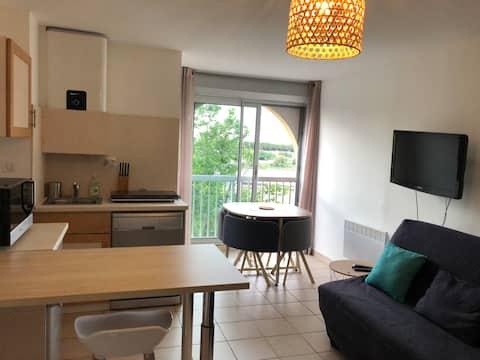 Studio cosy Carnon-plage, parking et WIFI
