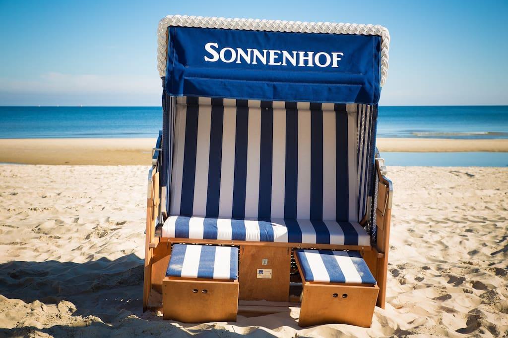 Ferienhaus Sonnenhof III inkl. eigenem XXL-Strandkorb am Ostseestrand Heringsdorf