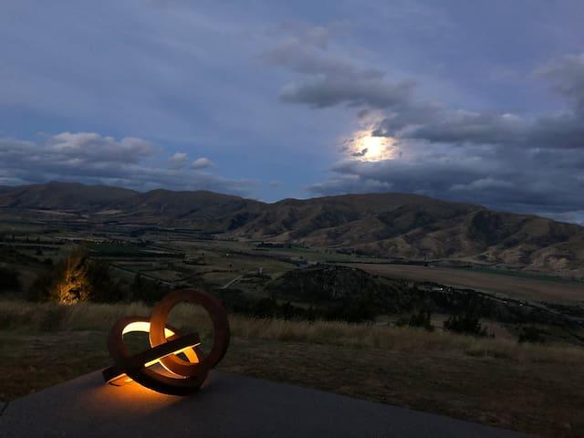 Full moon at Hawk House