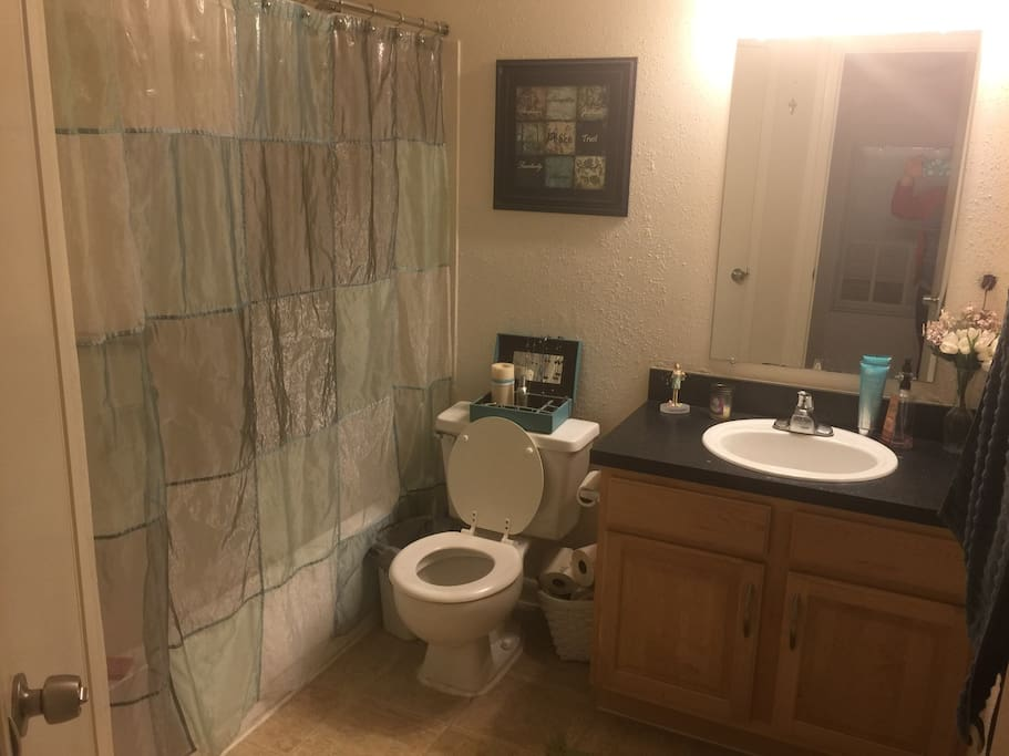 Your bathroom with toiletries