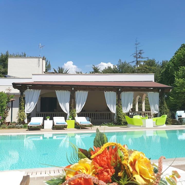 Villa Edda con piscina riscaldata,tennis,free wifi