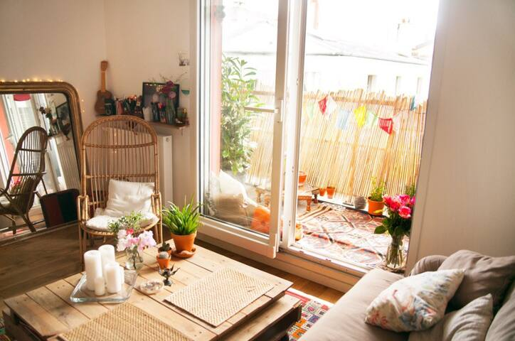 Pretty South exposed appartment with balcony 3 - Bagnolet - Appartement