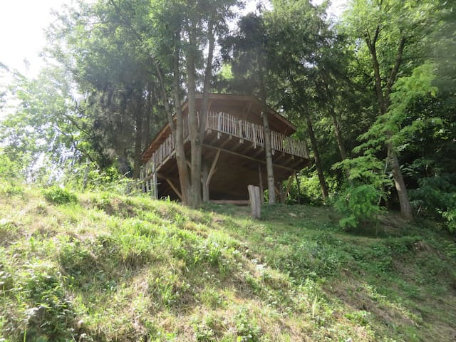 Cabane bois Drôme des collines*Bain nordique hiver