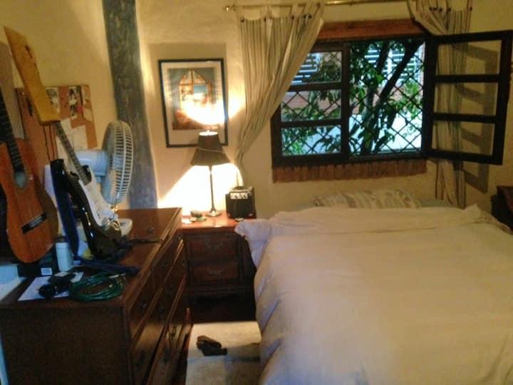 Nice room with garden access