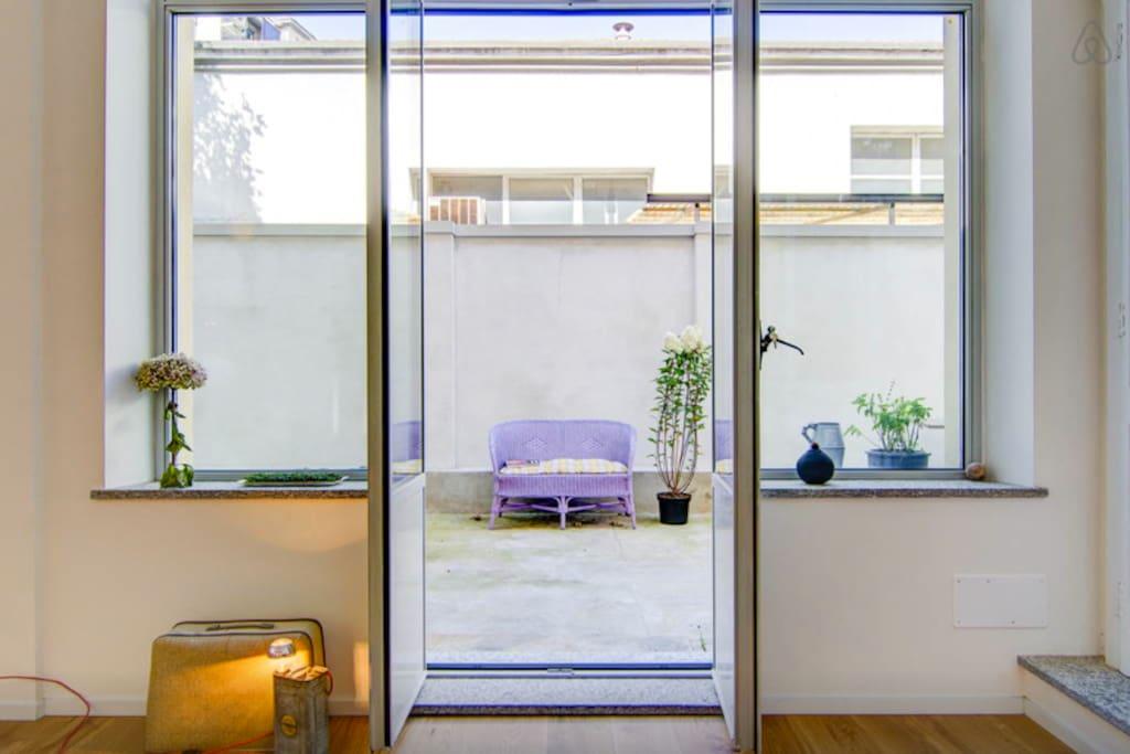 window door to the terrace
