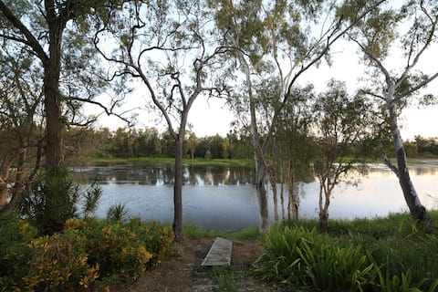 Enjoy a pontoon and over 400m of river frontage metres from the house.