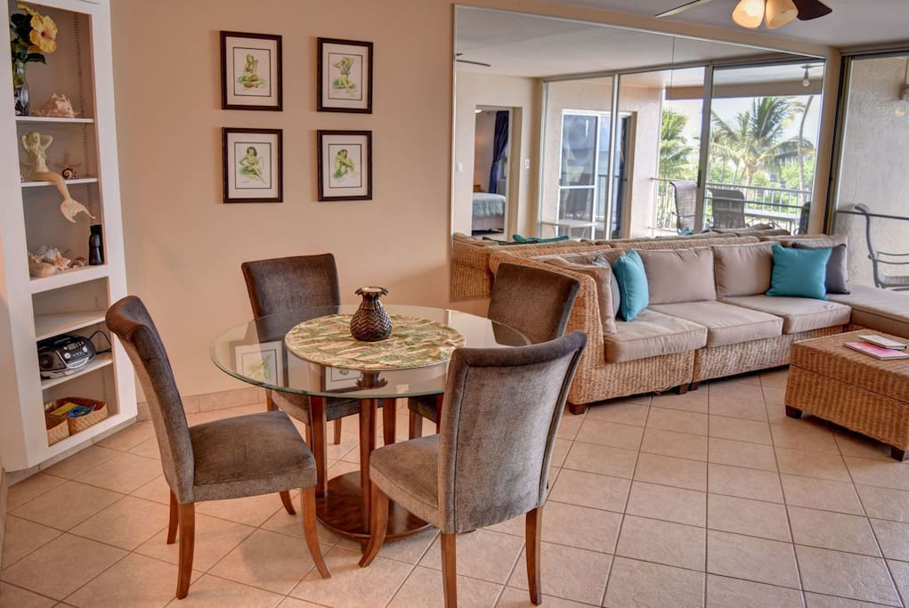 Dining area open to living room