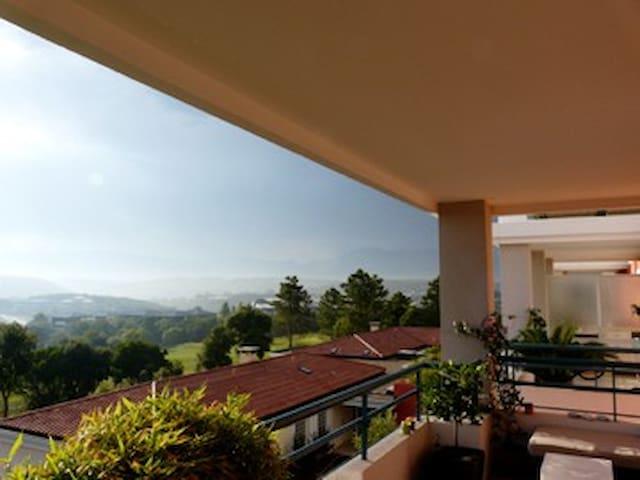 Appart 3p 2 terrasses piscine &golf - Biot - Apartemen
