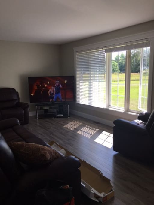 "Living room with 65"" TV, Netflix & Wifi!"