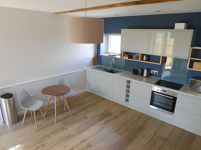 kitchen / dining / living area