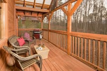 Fully Covered and Screened Deck with Gas Grill