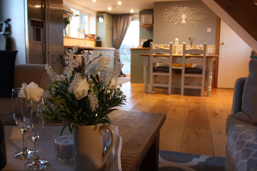 Living/dining area - open plan