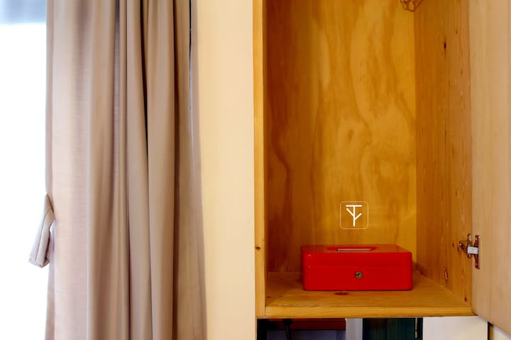 In room wardrobe with safety box