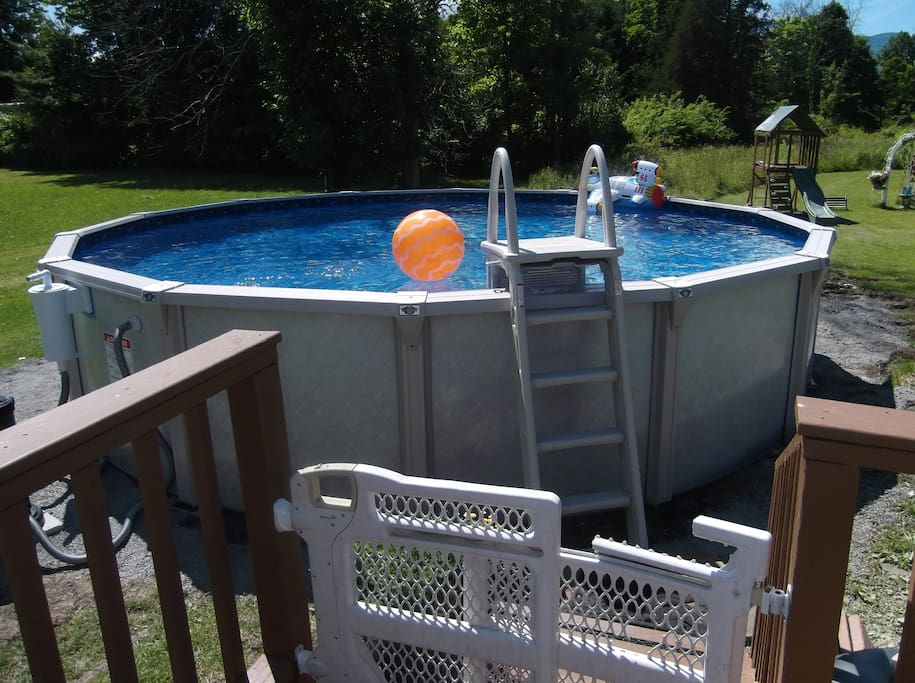 Cool off in this 21 foot pool! No xtra charge! Just a donation is appreciated.