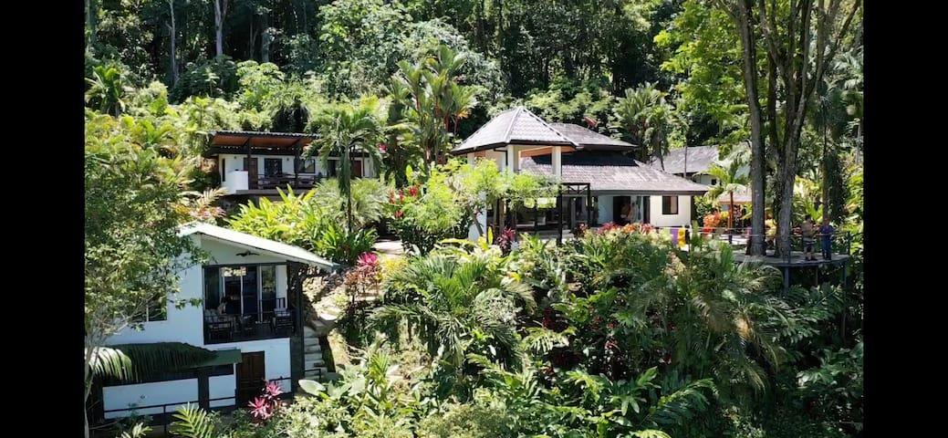 Multiple OceanViews Balinese style Villas& Gardens