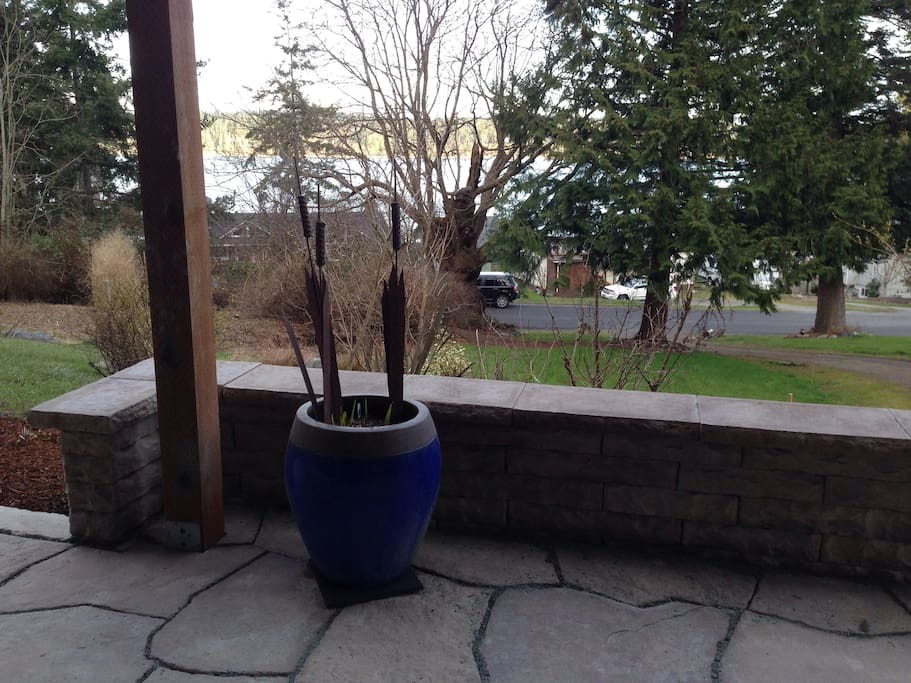 View from entrance off patio