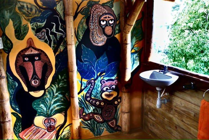 monkey bathroom