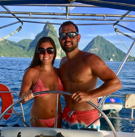 Couple at Pitons