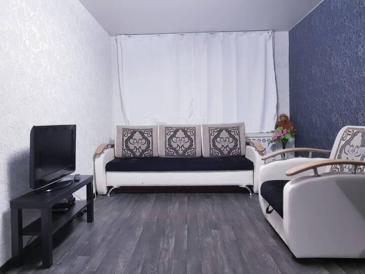 Уютная квартира с кондицеонером в центре города.